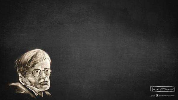 Chalk portrait of Stephen Hawking